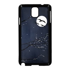 Night Birds And Full Moon Samsung Galaxy Note 3 Neo Hardshell Case (black)