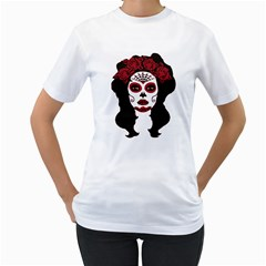 Day Of The Dead Women s T-Shirt (White)  by EndlessVintage