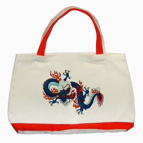 Dragon By Divad Brown   Classic Tote Bag (red)   Gumz2np4akum   Www Artscow Com Front