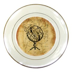 Discover The World Porcelain Display Plate by StuffOrSomething