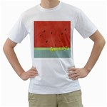 watermelon - Men s T-Shirt (White) (Two Sided)