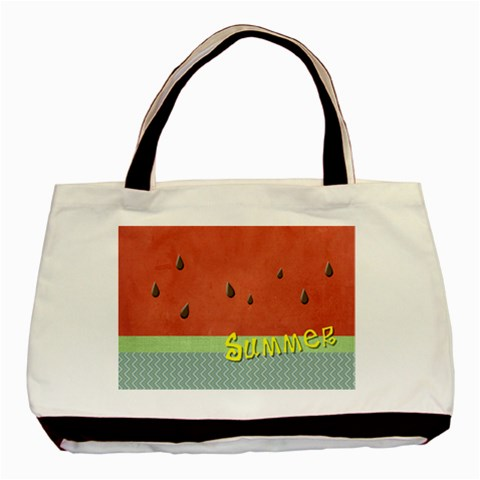 Watermelon By Arts    Basic Tote Bag   Gwo98jssut9q   Www Artscow Com Front