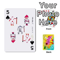 Jeu Alice By Braunschweig   Playing Cards 54 Designs   L5bryezycv78   Www Artscow Com Front - Spade5