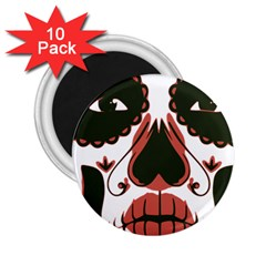 Day Of The Dead 2.25  Button Magnet (10 pack) by EndlessVintage