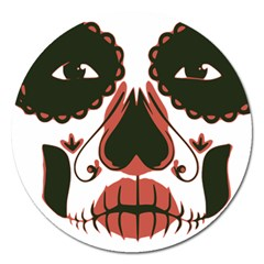 Day Of The Dead Magnet 5  (Round) by EndlessVintage