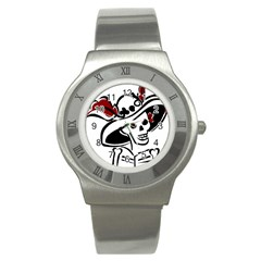 Day Of The Dead Stainless Steel Watch (Slim) by EndlessVintage