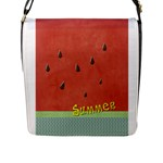 WATERMELON - Flap Closure Messenger Bag (L)