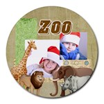 zoo - Round Mousepad