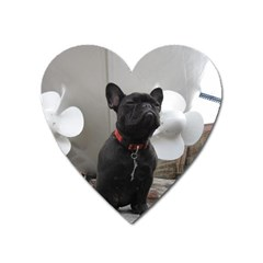 French Bulldog Magnet (heart) by StuffOrSomething