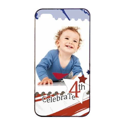 July 4 Usa By Anita   Apple Iphone 4/4s Seamless Case (black)   Det5r3c2arfn   Www Artscow Com Front