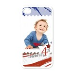 july 4 usa - Apple iPhone 4 Case (White)