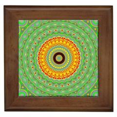 Mandala Framed Ceramic Tile by Siebenhuehner