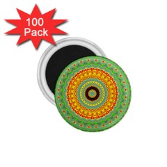 Mandala 1 75  Button Magnet (100 Pack)