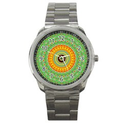 Mandala Sport Metal Watch by Siebenhuehner