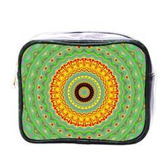 Mandala Mini Travel Toiletry Bag (one Side) by Siebenhuehner
