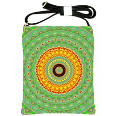 Mandala Shoulder Sling Bag by Siebenhuehner