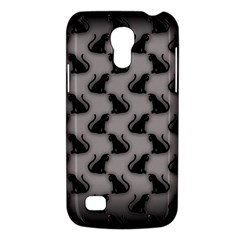 Black Cats On Gray Samsung Galaxy S4 Mini (gt I9190) Hardshell Case  by bloomingvinedesign