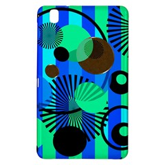 Blue Green Stripes Dots Samsung Galaxy Tab Pro 8 4 Hardshell Case by bloomingvinedesign