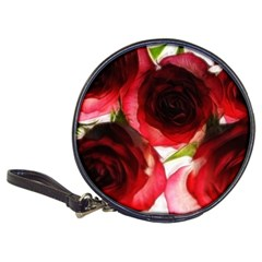 Pink And Red Roses On White Cd Wallet by bloomingvinedesign