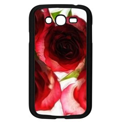 Pink And Red Roses On White Samsung Galaxy Grand Duos I9082 Case (black)