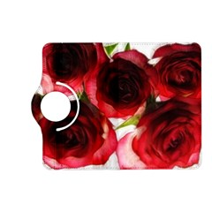 Pink And Red Roses On White Kindle Fire Hd 7  (2nd Gen) Flip 360 Case by bloomingvinedesign