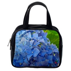 Blue Hydrangea Classic Handbag (one Side) by CrackedRadish