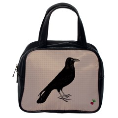 Raven Classic Handbag (one Side) by CrackedRadish