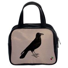 Raven Classic Handbag (two Sides) by CrackedRadish