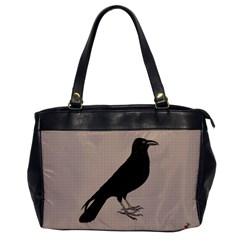 Raven Oversize Office Handbag (one Side) by CrackedRadish