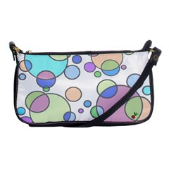 Circles   Bright Evening Bag by CrackedRadish