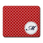Mousepad_Quatrefoil - Monogram2 - Large Mousepad