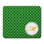 Mousepad_Quatrefoil - Monogram3 - Large Mousepad
