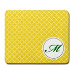 Mousepad_Quatrefoil - Monogram4 - Large Mousepad