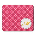 Mousepad_Quatrefoil - Monogram5 - Large Mousepad