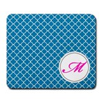 Mousepad_Quatrefoil - Monogram6 - Large Mousepad