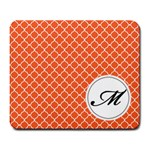 Mousepad_Quatrefoil - Monogram7 - Large Mousepad