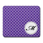 Mousepad_Quatrefoil - Monogram8 - Large Mousepad