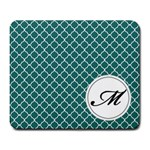 Mousepad_Quatrefoil - Monogram10 - Large Mousepad