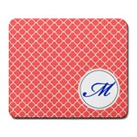 Mousepad_Quatrefoil - Monogram11 - Large Mousepad