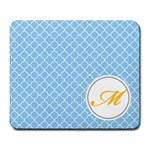 Mousepad_Quatrefoil - Monogram12 - Large Mousepad