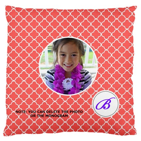 Cushion Case Quatrefoil7 By Jennyl   Large Cushion Case (one Side)   Fb0g1s08ui33   Www Artscow Com Front