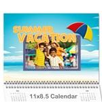 summer - Wall Calendar 11  x 8.5  (12-Months)