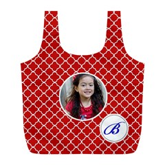 Recycle Bag (l)  Quatrefoil1 By Jennyl   Full Print Recycle Bag (l)   V80jqanuh8ni   Www Artscow Com Front