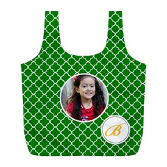 Recycle Bag (l)  Quatrefoil2 By Jennyl   Full Print Recycle Bag (l)   8yjn3xuxi8n4   Www Artscow Com Front