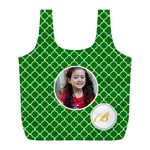 Recycle Bag (L)- Quatrefoil2 - Full Print Recycle Bag (L)