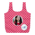 Recycle Bag (L)- Quatrefoil3 - Full Print Recycle Bag (L)