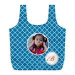 Recycle Bag (L)- Quatrefoil4 - Full Print Recycle Bag (L)