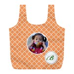 Recycle Bag (L)- Quatrefoil5 - Full Print Recycle Bag (L)