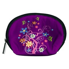 Flowery Flower Accessory Pouch (Medium) by SaraThePixelPixie