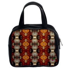 Jeweled Earth Classic Handbag (two Sides) by CrackedRadish